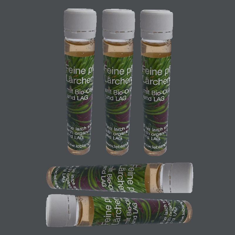 Feine pflegende basische Laerchenseife mit LAG und Laerchennadeloel-5x30ml
