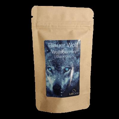 Blauer Wolf Gojibeeren schwarze Produkt vorn